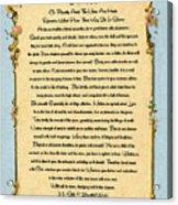 Desiderata Poem On Antique Paris Postcard Acrylic Print