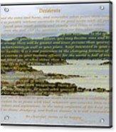 Desiderata Rugged Coastline Acrylic Print