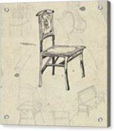 Design For A Chair, Carel Adolph Lion Cachet, 1874 - 1945 Acrylic Print