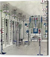 Design For A Music Room With Panels By Margaret Macdonald Mackintosh Acrylic Print