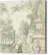 Design For A Room Piece Dorinda Returns Silvio His Dog, Dionys Van Nijmegen, 1715 - 1798 Acrylic Print