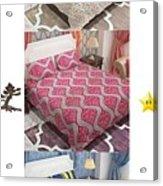 Designer Bed Sheet To Decor Home Acrylic Print