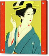 Designer Series Japanese Matchbox Label 128 Acrylic Print