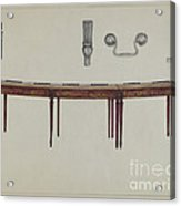 Desk (in Two Sections) Used By Members Of Congress Acrylic Print