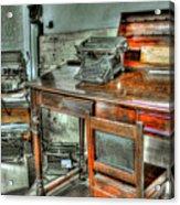 Desk Or Typewriter Acrylic Print