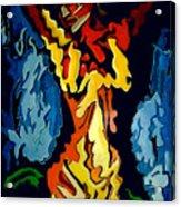 Desnuda Azul Acrylic Print
