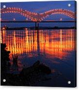 Desoto Bridge Refections Acrylic Print