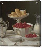 Dessert Still Life, 1855 Acrylic Print