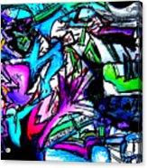 Destination Unknown Neon Acrylic Print
