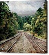 Destination Unknown, Travel Journey Train Tracks Acrylic Print
