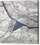 detail, ''Blues'' Acrylic Print