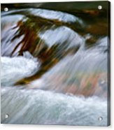 Detail Cascade Fall River Acrylic Print