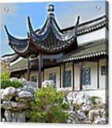 Detail Chinese Garden With Rocks. Acrylic Print