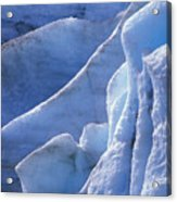 Detail Of Blue Ice On Exit Glaicer Acrylic Print