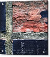 Detail Of Damaged Wall Tiles Acrylic Print