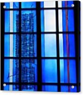 Detail Of Modern Johannes Schreiter Window Mainz 1 Acrylic Print