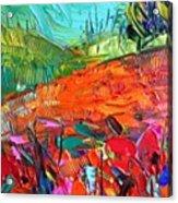 Detail Of New #paletteknife Acrylic Print