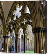 Detail Of Salisbury Cathedral Cloister  Acrylic Print