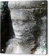 Detail Of Stone Carving Near Angkor Wat, Cambodia Acrylic Print