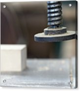 Detail Of The Chuck In The Carpentry Workshop - Shallow Depth Of Acrylic Print