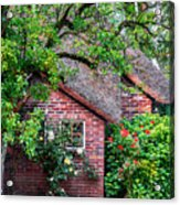 Detail Of Typical Dutch Old Yard Acrylic Print