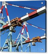 Detail View Of Container Loading Cranes Acrylic Print