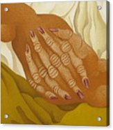Detailed  The Hands  The Seated Gipsy  2009 Acrylic Print