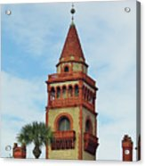 Details Of Flagler College Acrylic Print