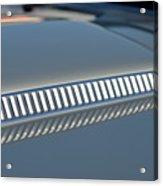 Details On Hood Of 1966 Chevrolet Corvette Sting Ray 427 Turbo-jet Acrylic Print