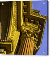 Details Palace Of Fine Arts Acrylic Print