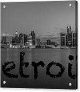 Detroit City  Acrylic Print