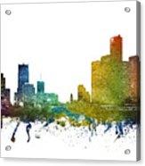Detroit Cityscape 01 Acrylic Print