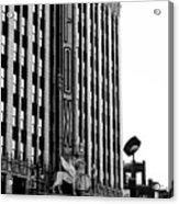 Detroit Fox Theatre Black And White Acrylic Print
