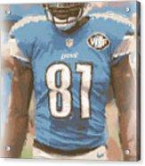 Detroit Lions Calvin Johnson 1 Acrylic Print