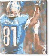 Detroit Lions Calvin Johnson 2 Acrylic Print
