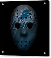 Detroit Lions War Mask 2 Acrylic Print