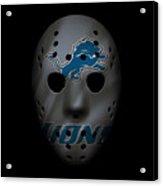 Detroit Lions War Mask 3 Acrylic Print