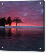 Detroit Point Sunset Off The Ice Acrylic Print