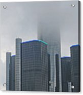 Detroit Rencen In Cloud Acrylic Print