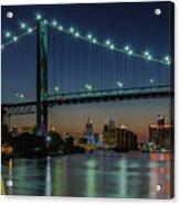 Detroit Riverside Sparkle Acrylic Print