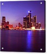 Detroit Skyline 2 Acrylic Print