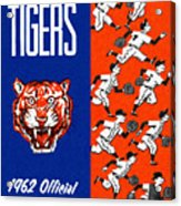 Detroit Tigers 1962 Yearbook Acrylic Print