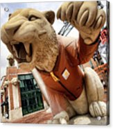 Detroit Tigers Tiger Statue Outside Of Comerica Park Detroit Michigan Acrylic Print by Gordon Dean II