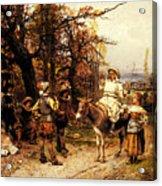 Detti Cesare Auguste A Halt Along The Way Acrylic Print
