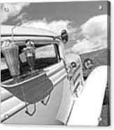 Deuce Coupe At The Drive-in Black And White Acrylic Print