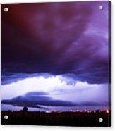 Developing Nebraska Night Shelf Cloud 001 Acrylic Print