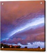 Developing Nebraska Night Shelf Cloud 006 Acrylic Print