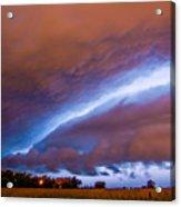 Developing Nebraska Night Shelf Cloud 007 Acrylic Print