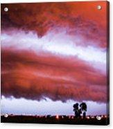 Developing Nebraska Night Shelf Cloud 009 Acrylic Print