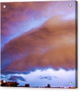 Developing Nebraska Night Shelf Cloud 013 Acrylic Print